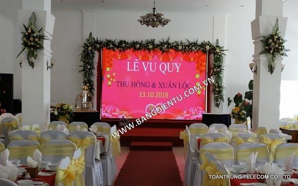 Công trình màn hình led trong nhà tại tỉnh ủy Lâm Đồng do Toàn Trung thi công